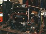 moteur delahaye 134 prêt à tourner sur le banc
