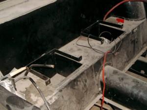 remise en état des bacs à batteries