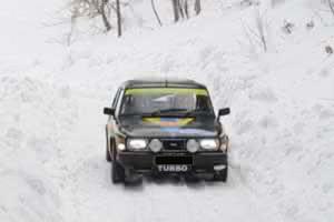 Un de nos clients en Saab 99 Turbo au Rallye Neige et Glace 2009