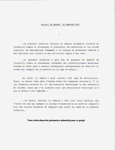 extrait du brevet du 06 Janvier 2009