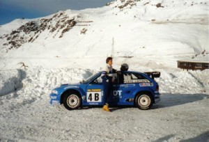 Henri Lecomte et son Opel Astra