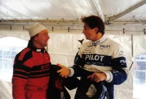 René Arnoux et Henri Lecomte en grande discussion